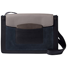 Buy Gerard Darel Lexington Leather Shoulder Bag, Grey/Blue Online at johnlewis.com