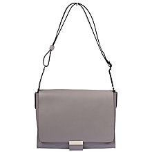 Buy Gerard Darel Médicis Leather Shoulder Bag, Grey Online at johnlewis.com