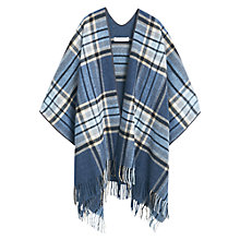 Buy Mango Check Poncho, Ercu Online at johnlewis.com
