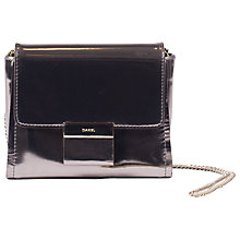 Buy Gerard Darel Lipp Glossy Shoulder Bag, Platine Online at johnlewis.com