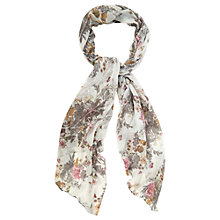 Buy Oasis Botanical Print Sequin Scarf, Multi Online at johnlewis.com