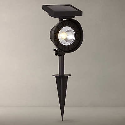 John Lewis Shine Outdoor LED Stake Spotlight, Grey