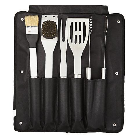 buy john lewis bbq tool set 6 piece john lewis. Black Bedroom Furniture Sets. Home Design Ideas