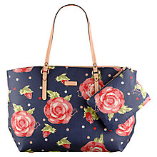 Buy Radley Autumn Rose Leader Shopper Bag, Navy Online at johnlewis.com