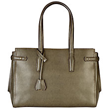 Buy Jaeger Maddison Large Leather Bag, Wren Online at johnlewis.com