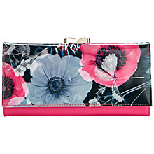 Buy Ted Baker Haddli Neon Poppy Print Leather Matinée Purse, Navy Online at johnlewis.com