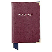 Buy Aspinal of London Liz Leather Passport Cover Online at johnlewis.com