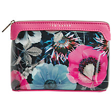 Buy Ted Baker Werwin Neon Poppy Printed Wash Bag, Navy Online at johnlewis.com