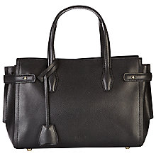 Buy Jaeger Maddison Across Body Leather Bag, Black Online at johnlewis.com