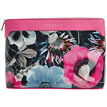 Buy Ted Baker Wasnot Neon Poppy Printed Washbag, Navy Online at johnlewis.com