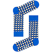 Buy Happy Socks Basket Weave Socks, One Size Online at johnlewis.com