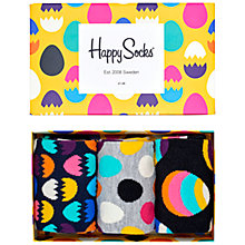 Buy Happy Socks Easter Socks Gift Set, Pack of 3, One Size, Multi Online at johnlewis.com