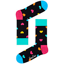 Buy Happy Socks Hearts Socks, One Size, Multi Online at johnlewis.com