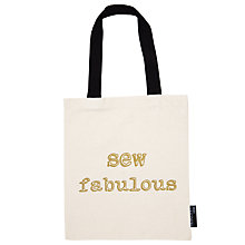 Buy Lola And Gilbert Sew Fabulous Tote Bag, Natural/Black Online at johnlewis.com