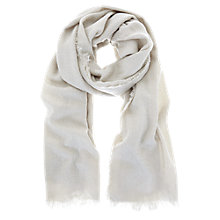 Buy Mint Velvet Textured Foil Scarf, Grey Pebble Online at johnlewis.com