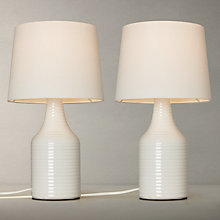 Buy John Lewis Marlowe Ceramic Duo Table Lamp, White Online at johnlewis.com