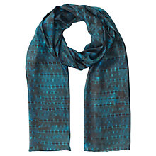 Buy Jigsaw Tie Dye Silk Scarf, Teal Online at johnlewis.com