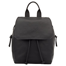 Buy Jigsaw Sophia Leather Backpack, Black Online at johnlewis.com