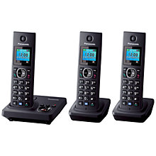 Buy Panasonic KX-TG7863 Digital Cordless Telephone with LCD TFT Colour Screen, Noise Reduction and Key Finder Compatibility, Trio DECT Online at johnlewis.com