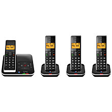 Buy BT Xenon 1500 Cordless Telephone with Answering Machine, Quad DECT Online at johnlewis.com