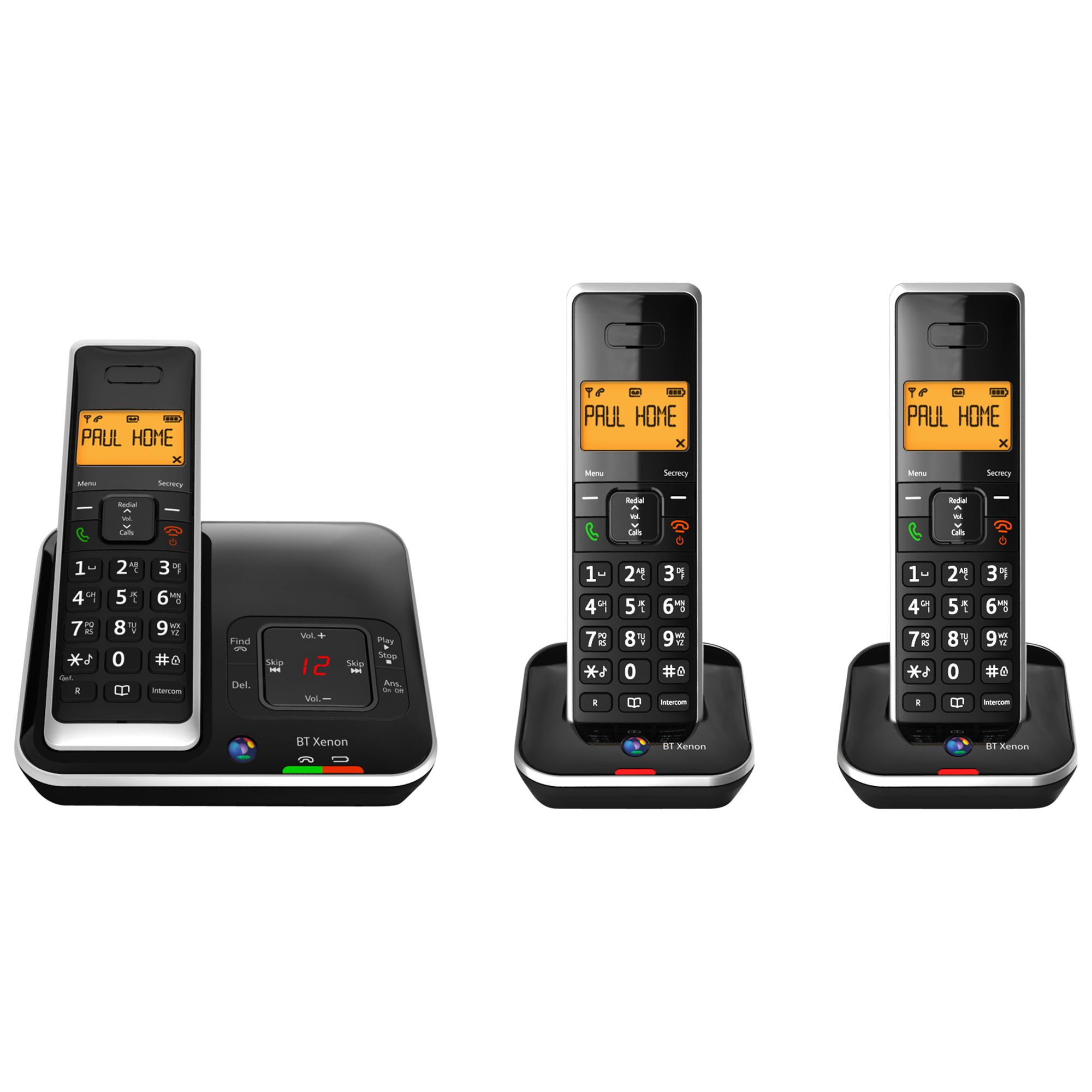 BT BT Xenon 1500 Cordless Telephone with Answering Machine, Trio DECT