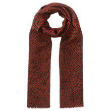 Buy Jigsaw Silk Wool Blend Foulard Scatter Spot Scarf, Cranberry Online at johnlewis.com
