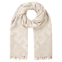Buy Jigsaw Oversized Aztec Scarf, Natural Online at johnlewis.com