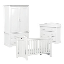 Buy Boori Classic Royale Wardrobe, Cotbed and Dresser Furniture Set, White Online at johnlewis.com