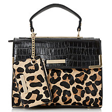 Buy Dune Dinidhan Small Structured Tote, Leopard Online at johnlewis.com