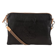 Buy Orla Kiely Leather Travel Pouch, Black Online at johnlewis.com