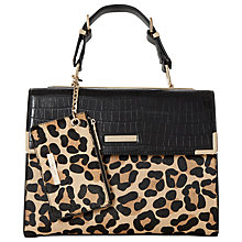 Buy Dune Dhan Colourblock Bag, Leopard Online at johnlewis.com