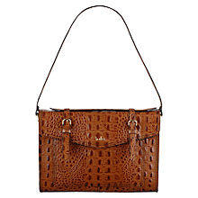 Buy Tula Everglade Originals Flapover Leather Shoulder Bag, Tan Online at johnlewis.com