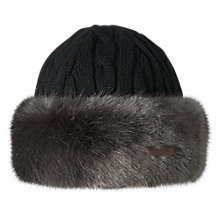 Buy Barts Faux Fur Cable Bandhat, One Size, Dark Grey Online at johnlewis.com