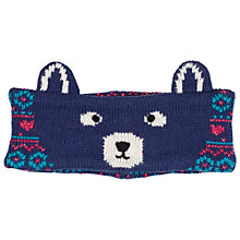 Buy Fat Face Camborne Bear Headband, Navy Online at johnlewis.com