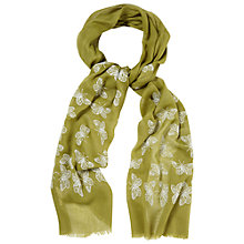 Buy White Stuff Butterfly Embroidery Scarf, Green Online at johnlewis.com