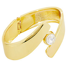 Buy Adele Marie Glass Stone Magnetic Catch Bangle, Gold Online at johnlewis.com