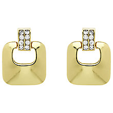 Buy Monet Crystal Knocker Clip-On Earrings Online at johnlewis.com