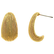 Buy Monet Textured Drop Earrings, Gold Online at johnlewis.com