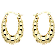 Buy Monet Creole Hoop Earrings, Gold Online at johnlewis.com