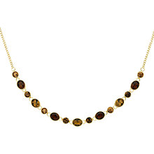 Buy Monet Champagne Crystal Necklace, Gold Topaz Online at johnlewis.com