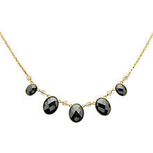 Buy Monet Hematite Necklace, Gold Online at johnlewis.com