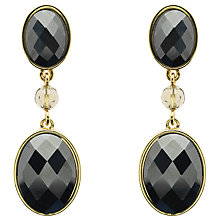 Buy Monet Hematite Drop Earrings, Gold/Black Online at johnlewis.com