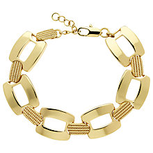 Buy Monet Textured Link Bracelet, Gold Online at johnlewis.com