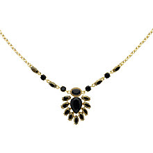Buy Monet Hematite and Crystal Teardrop Statement Necklace, Gold Online at johnlewis.com