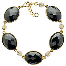 Buy Monet Cabochon Hematite Bracelet, Gold Online at johnlewis.com