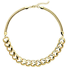 Buy Monet Heart Collar Necklace, Gold Online at johnlewis.com