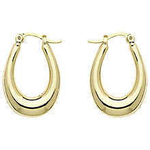 Buy Monet Creole Earrings, Gold Online at johnlewis.com