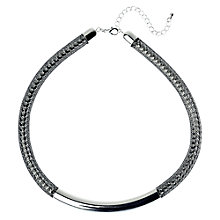 Buy Adele Marie Black Snake Mesh Necklace, Silver Online at johnlewis.com