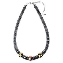 Buy Adele Marie Snake Chain Beads Necklace, Silver Online at johnlewis.com