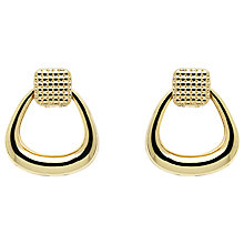Buy Monet Texture Knocker Stud Earrings, Gold Online at johnlewis.com